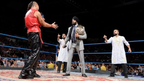 Jinder Mahal defended the WWE World Championship against Shinsuke Nakamura in the main event