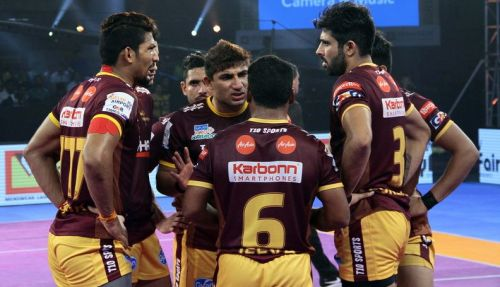 Nitin Tomar was exceptional on the night as a raider and a leader against Patna Pirates