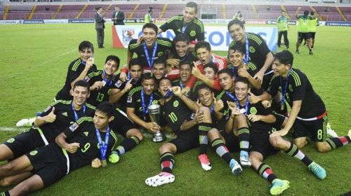 The CONCACAF U-17 Championship winning Mexico team
