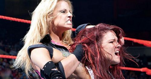 Trish Stratus and Lita headlined a main event in 2004