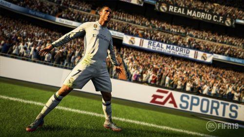 Cristiano Ronaldo, the cover star of FIFA 18