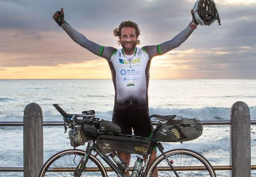 cycled 16 hours every day across 16 countries,