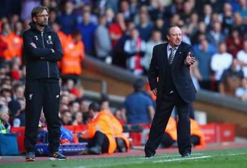 Benitez's Newcastle will face off against Klopp's Liverpool this Sunday