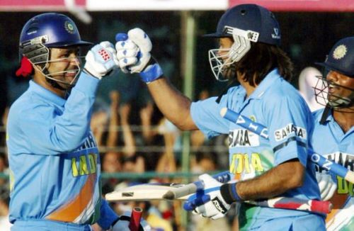 Sehwag acted as a runner for Dhoni who suffered from cramps during his epic knock