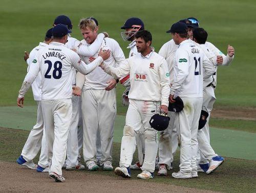 Essex team after defeating Warwickshire