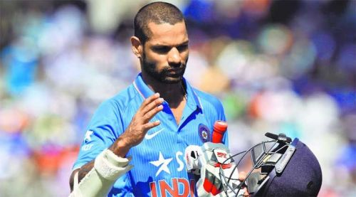 Dhawan had also mis
