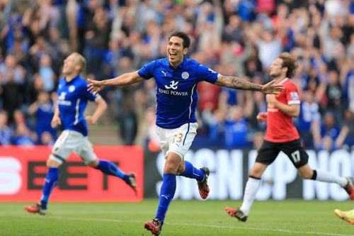 Ulloa scores against Manchester United on that fateful afternoon at KP Stadium