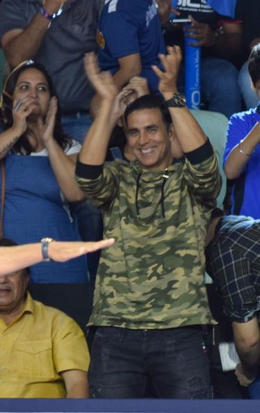 Akshay Kumar was in attendance for the match