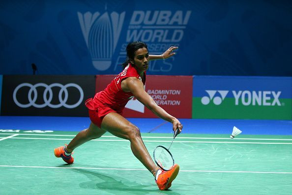 PV Sindhu in action during the Korea Open