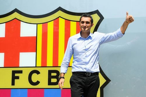 FC Barcelona Unveil New Head Coach Ernesto Valverde
