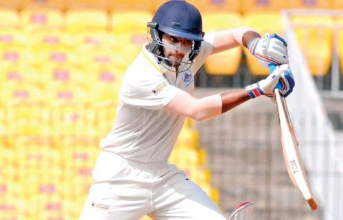 B Indrajith scored a stroke-filled century against India Blue in the Duleep Trophy