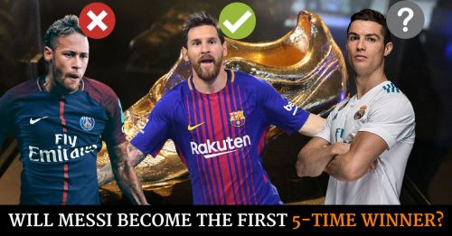 Messi Ronaldo Golden Shoe rankings