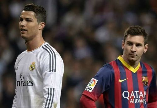 Ronaldo and Messi fight it out