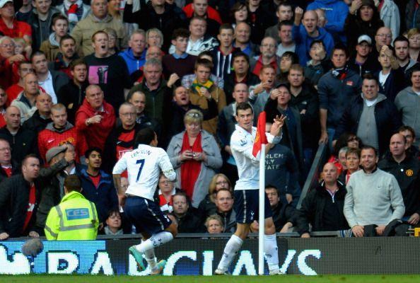 Gareth Bale celebrates after scoring a stunning solo goal