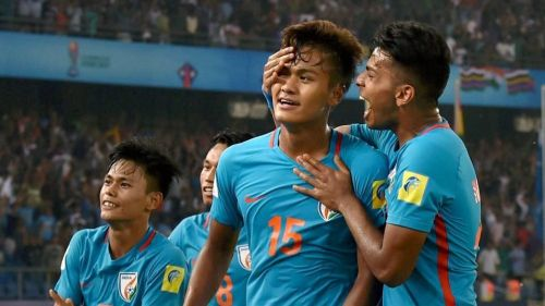 Jeakson created history by scoring India's first goal in a World Cup.