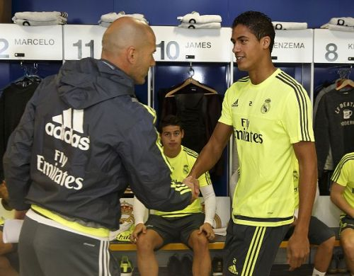 Raphael Varane and Zinedine Zidane