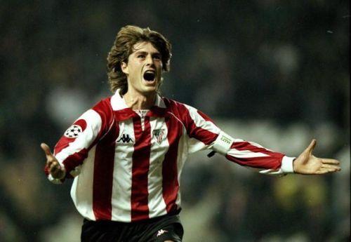 Athletic Bilbao v Galatasary Julen Guerrero of Athletic Bilbao