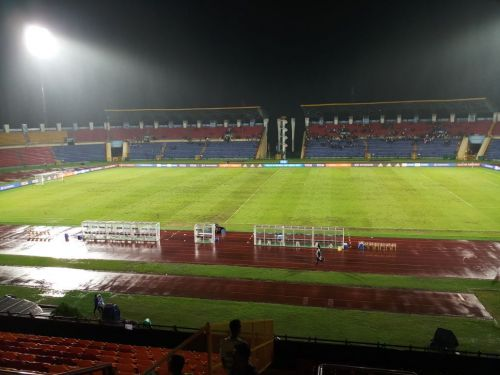 A still of the IGA Stadium pitch after yesterday's match