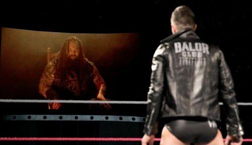 Wyatt confronting Finn Balor on RAW