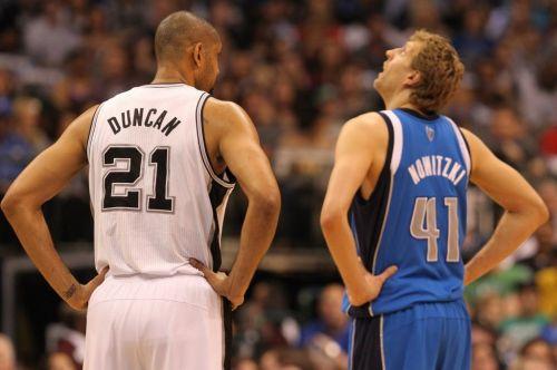 Tim Duncan and Dirk Nowitzki