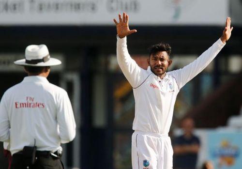 Bishoo got to 100 Test wickets