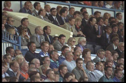 Matthew Harding sits left of Ken Bates