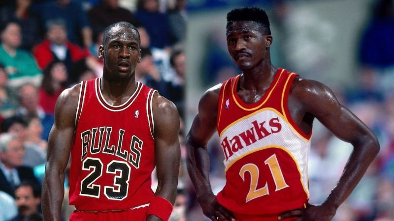 Michael Jordan and Dominique Wilkins (Image courtesy: youtube.com)