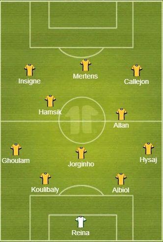 Probable line-up: Napoli