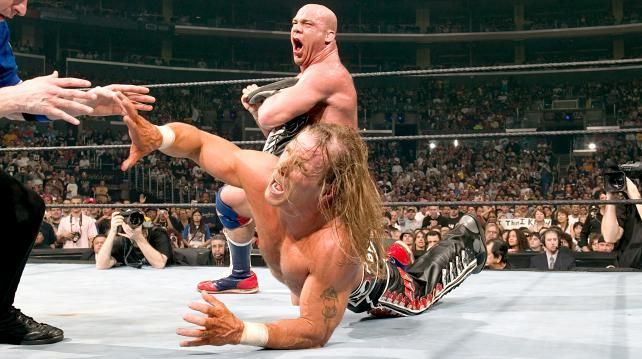 Kurt Angle has faced several WWE Hall of Famers including Sting and Shawn Michaels