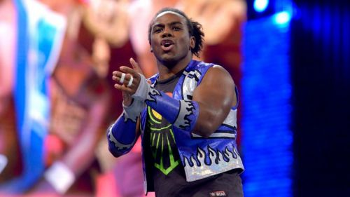 Xavier Woods appears to be defiant in the face of defeat
