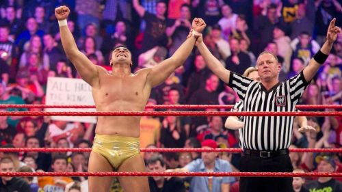 Alberto Del Rio winning the 2011 Royal Rumble