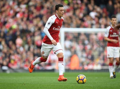 Mesut Ozil in action