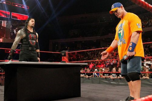 Reigns and Cena had an incredible verbal battle earlier this year on Raw