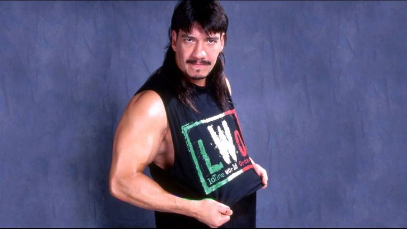 Eddie Guerrero posing for a photoshoot in  WCW
