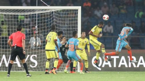 The scouts witnessed history at the Jawaharlal Nehru Stadium in New Delhi, on Monday, as Jeakson Singh scored the first ever goal in the history of any FIFA World Cup, for India.