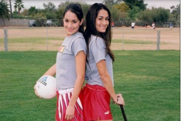 Nikki and Brie on the pitch