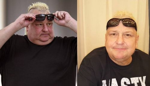 Brian Knobbs a few months ago (Left)     His latest photo (Right)