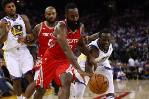 James Harden led the Houston Rockets to an upset win over the Golden State Warriors