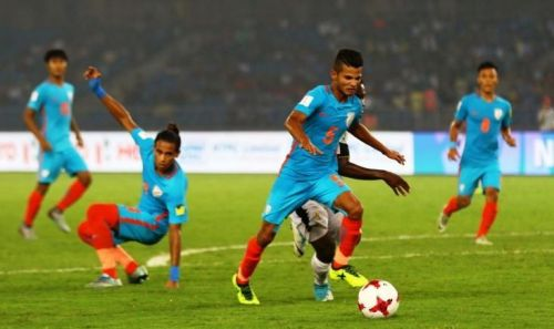 DEspite playing their hearts out, India succumbed to a 4-0 defeat at the hands of Ghana in their last Group A encounter of the 2017 FIFA U17 World Cup, at the Jawaharlal Nehru Stadium.