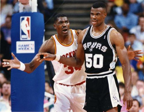 Hakeem Olajuwon and David Robinson