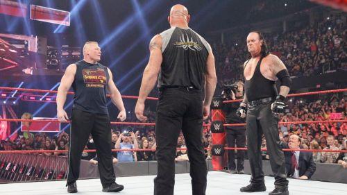 The Undertaker, Brock Lesnar and Goldberg