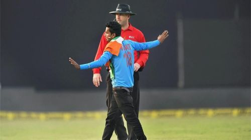 The crowd was stopped in his tracks by the third umpire (Picture credits: PTI)