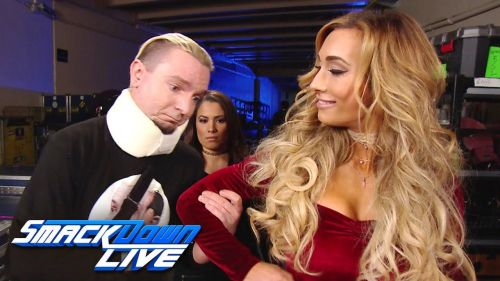 Carmella and James Ellsworth on SmackDown LIVE