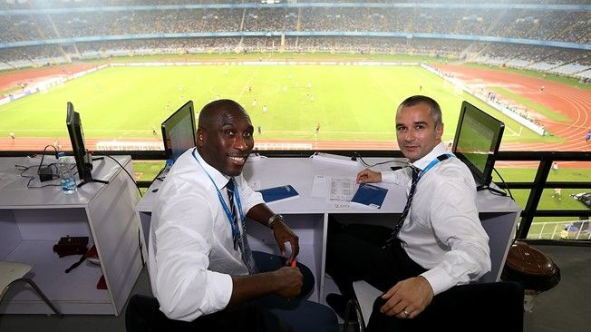 Sol Campbell as part of the FIFA technical team