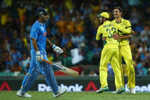 Dhoni fought hard but fell at the end