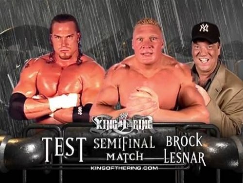 Brock Lesnar defeated Test at 2002 King of the ring