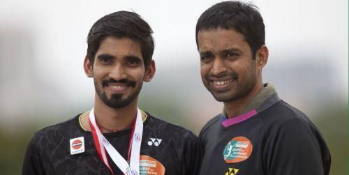 Kidambi Srikanth with his coach Pullela Gopichand.