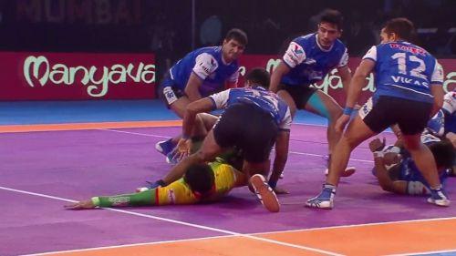 Pardeep's Super Raid that earned Patna Pirates 8 points.