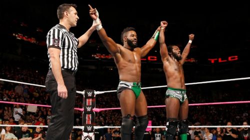 Cedric Alexander and Rich Swann were victorious at WWE TLC