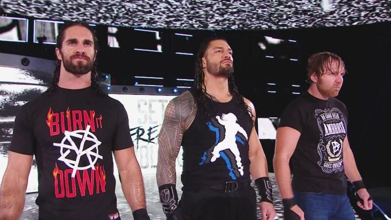 Seth Rollins, Roman Reigns, and Dean Ambrose